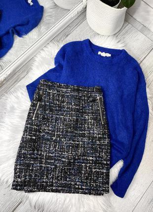 Твидовая  мини юбка