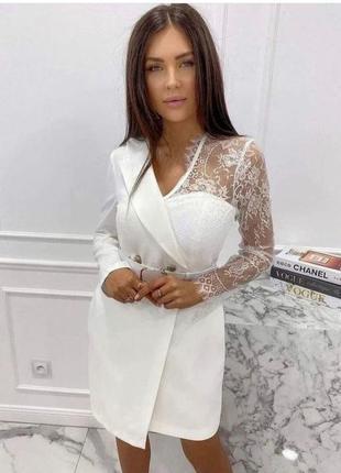Елегантне біле плаття