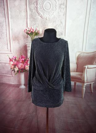 Стильная нарядная блузка люрекс