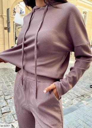 Прогулочный костюм двойка кофта худи брюки штаны