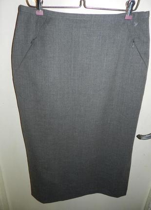 Шикарная,шерстяная 59%,стрейч,офисная юбка-карандаш с карманами,westerlind