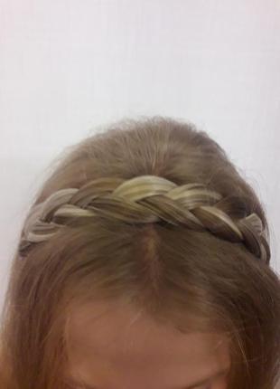 Коса на резинке