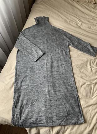 Платье свитер серое vero moda