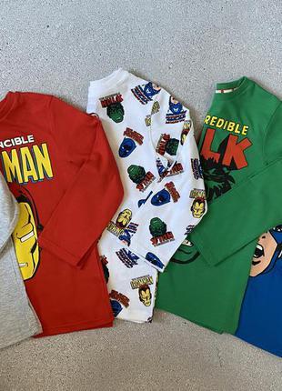 Реглан, кофта, лонгслив, футболка с длинным рукавом, с супергероями george