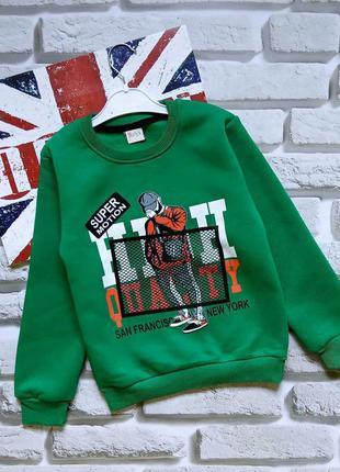 Мальчиковый свитерок,флис  7-11лет.турция