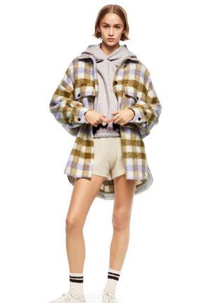 Теплое стильное пальто  zara оверсайз