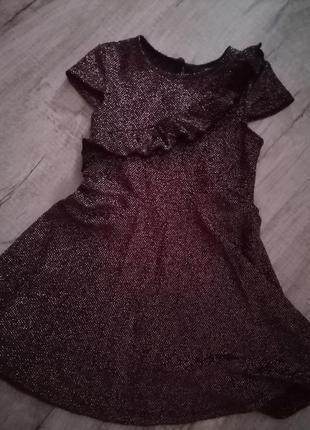 Яркое платье с люрексовой нитью 98- 104 см