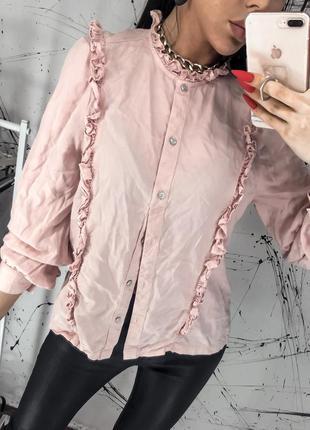 Блуза, рубашка, блузка с кружевом marks&spenser