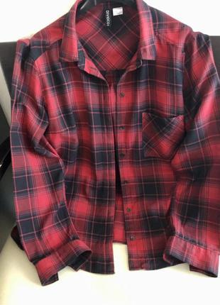 Рубашка h&m фланелевая