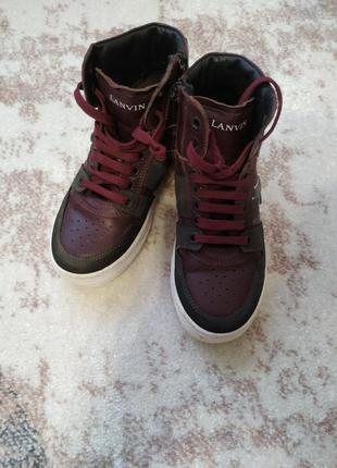 Осенние кожаные ботинки на мальчика lanvin