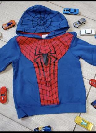 Кофта /худи с капюшоном george 3-4 года человек паук