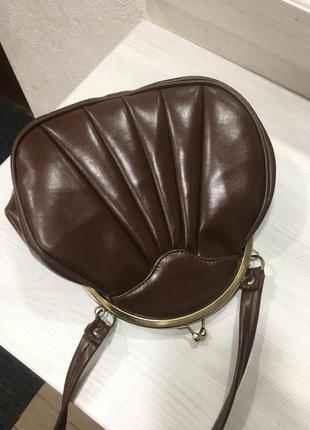 Винтажная кожаная мини сумка
