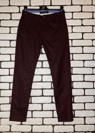 Бордовые, повседневные брюки zara man