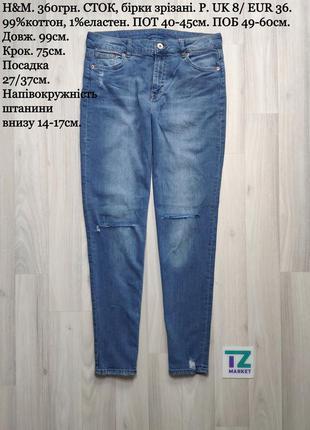 H&m синие женские джинсы