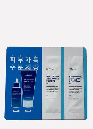Тестер эссенции и гель крема с гиалуроновой кислотой isntree essence + gel cream 2mlx2шт