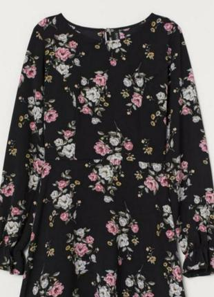 Шикарное, платье, плаття, сукня, длинный рукав, в цветы