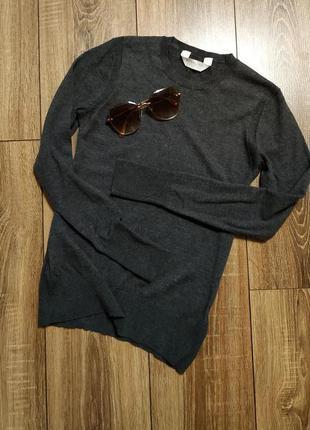 Everlane базовый джемпер/свитер из 100% шерсти серого цвета