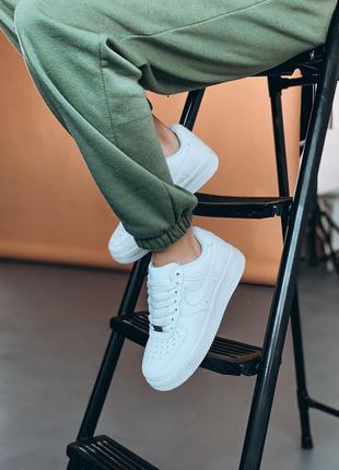 Кроссовки кожаные белые🍁кросівки шкіряні білі