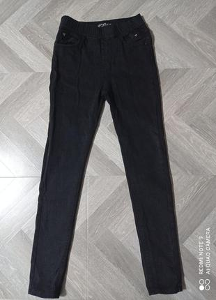 Утепленные джинсовые лосины, размер m-l