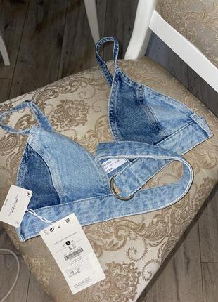 Новый модный джинсовый топ