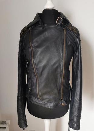 Кожаная куртка косуха pepe jeans