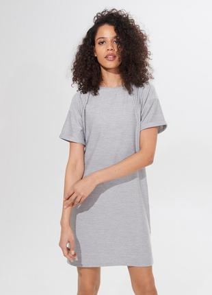 Платье туника женская серая размер м mohito сіра сукня плаття