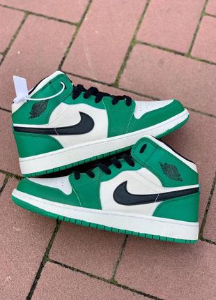 "Air jordan 1 retro mid ""pine green"""