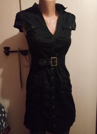 Крутое платье рубашка рок стиль панк готика неформальный хлопок