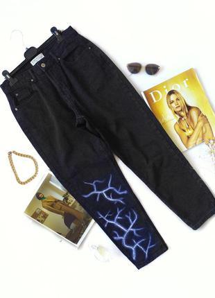 Черные джинсы мом бананы графит джинси mom primark