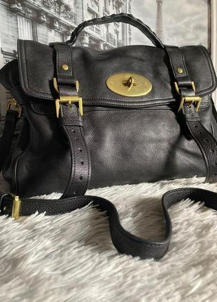 Кожаная сумка mulberry alexa