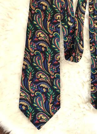 Красивый шелковый галстук винтаж шёлк