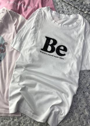 Базовая хлопковая футболка с принтом h&m