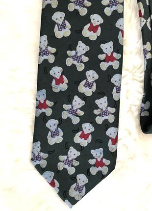 Шелковый галстук винтаж премиум бренд шёлк teddy bear