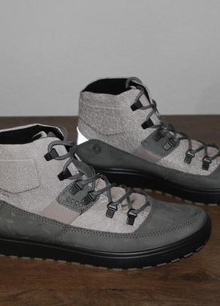 Кожаные зимние ботинки ecco soft 7 tred hydromax