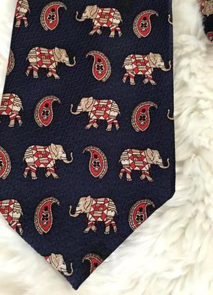 Красивый шелковый галстук шёлк слоны