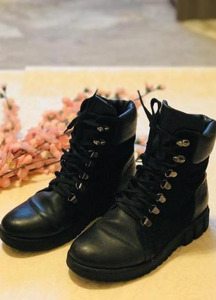 Черевики сапоги сапожки ботинки кожа шкіра