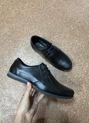 Осенние кожаные туфли р.40-46