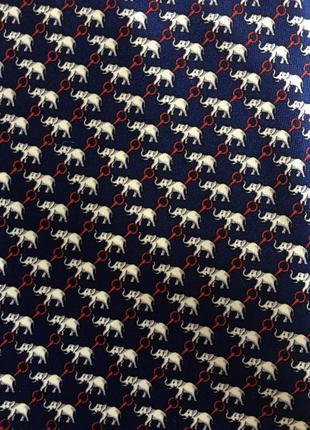 Шелковый галстук шёлк слоны