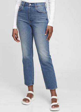 Крутые джинсы gap high rise cheeky straight jeans