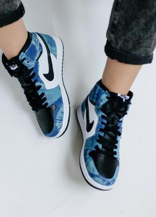 Кросівки nike air jordan 1 retro high tie dye кроссовки
