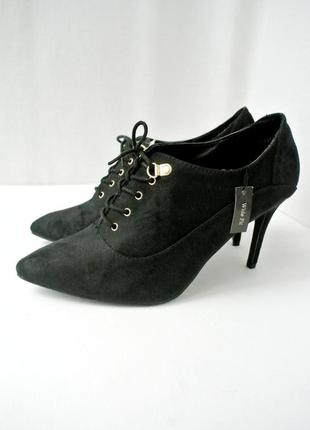 Новые стильные модные ботинки, ботильоны new look на шнурках. размер uk 7/ eur 40 .