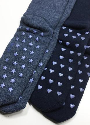 Набор 2 пары махровые домашние носки с тормозками тапочки р.35-38 бренд c&a