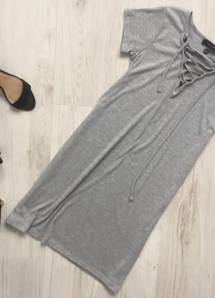 Платье atmosphere со шнуровкой