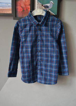 Стильная рубашка в клетку на мальчика 3-4 года