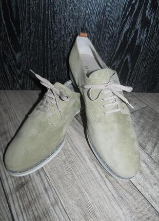 Maripe замшевые туфли оксфорды р. 41-27см италия