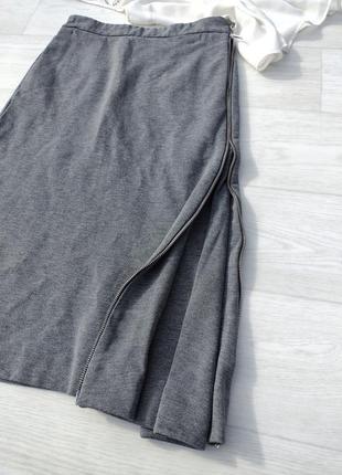 Серая миди юбка cos облегающая