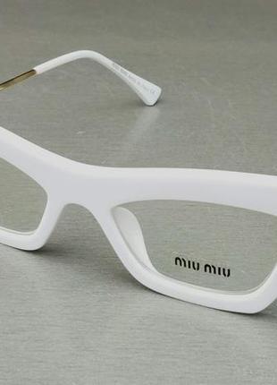Miu miu стильные женские имиджевые очки оправа для очков белая с золотом