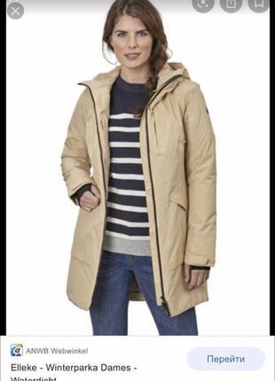 Шикарное водонепроницаемое пальто удлинённая куртка human nature