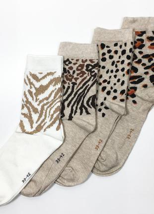 Набор 4 пары носки био хлопок женские комплект р.39/42 бренд c&a