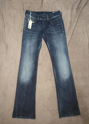 Женские штаны джинсы клёш стрейчевые diesel